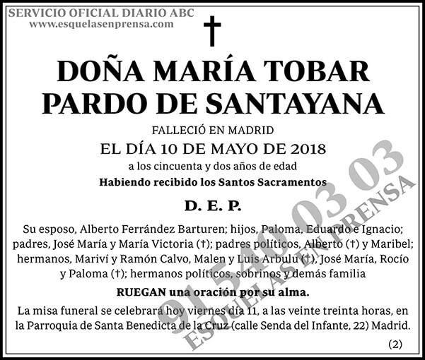 María Tobar Pardo de Santayana